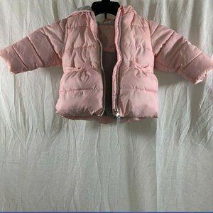 Girls Pink Wonder Nation Puffer Jacket Sze 12M